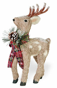 The Holiday Aisle Evergreen Deer Looking Up Figurine