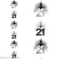 7ft Black Silver 21st Birthday Party Cascade Column Decoration