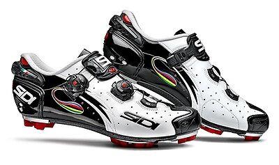 New Sidi Drako MTB Cycling Shoes, EU39-47, White/Black/Iride