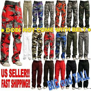BIG AND TALL MEN MILITARY ARMY CAMOUFLAGE CAMO CARGO PANT COMBAT ...