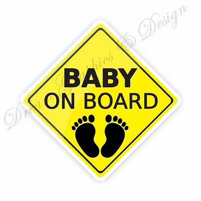 Baby on Board Sticker Full Color Adhesive Vinyl Sticker Window Car Bumper #17