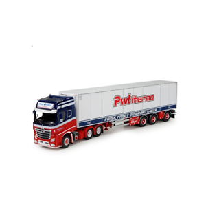 Tekno 70289 Mercedes Benz Gigaspace 6x2 w Trailer Peter Wouters 1 50 Scale