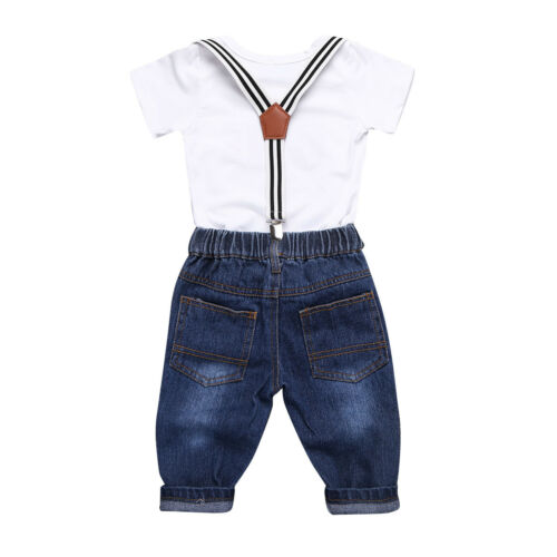 Baby Boys Gentleman Formal Outfits Party Wedding Pageant Casual Suit Playsuit