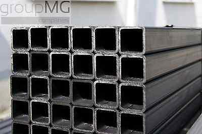 Quadratrohr Stahlrohr Hohlprofil Vierkantrohr 1250mm Länge