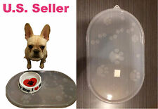 "Top Paw USA Clear Place Mat Dog Cat Pet Dish Bowl Feeding Water Food 21""x12.75"""