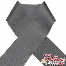BLACK 3 INCH Grosgrain Polyester Ribbon - 10 yard spool MADE IN USA - Cheer Bow