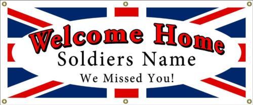 Bienvenue bannière personnalisé avec les soldats nom