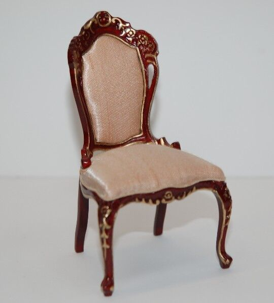1 12th Scale Mahogany Dining Chair  Beautifully Hanpainted By Jia Yi