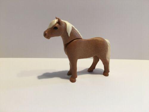 Horse Pony Brown Tan to horse farm//pony Playmobil Animals