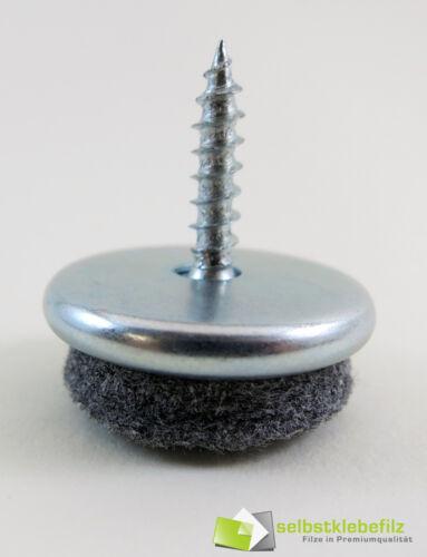 Metall Möbelgleiter 30mm Profiqualität Stuhlgleiter Filzgleiter mit Schraube 30