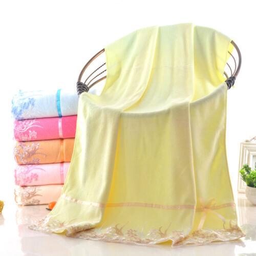 Luxury Lace towel set 2pcs Bath Towel /& Face Towel Super Soft Water Absorption