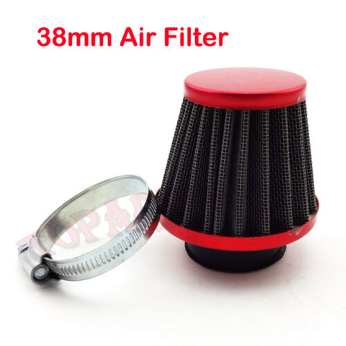 Red 38mm Air Filter Replaces For Honda CT90 CT110 CRF100 CRF100F Trail Dirt Bike
