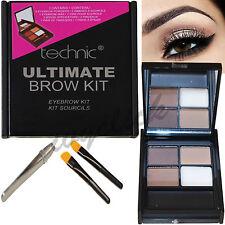 Technic Ultimate Brow Kit Powders Wax Tweezers & Brush Eyebrow Make Up Set Eyes