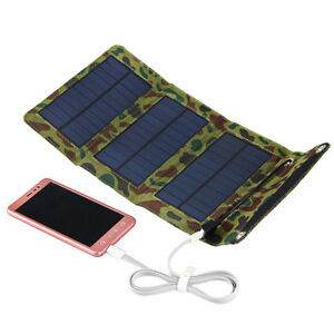 5v 5w faltbar solar panel akku ladeger t kit usb powerbank. Black Bedroom Furniture Sets. Home Design Ideas