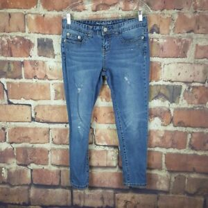 Maurices-Cropped-Jeans-Womens-Size-7-8-Juniors-Denim-Capris-Embellished