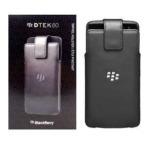BlackBerry-New-OEM-Leather-Swivel-Holster-Case-for-BlackBerry-DTEK60-Black