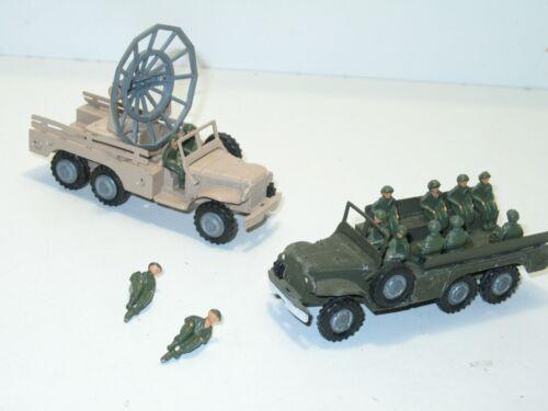 FJ france jouet et gmc 1 soldat assis en métal peint pour DODGE militaire FJ