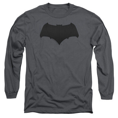 New Justice League Movie BATMAN LOGO Adult Long Sleeve T-Shirt S-3XL