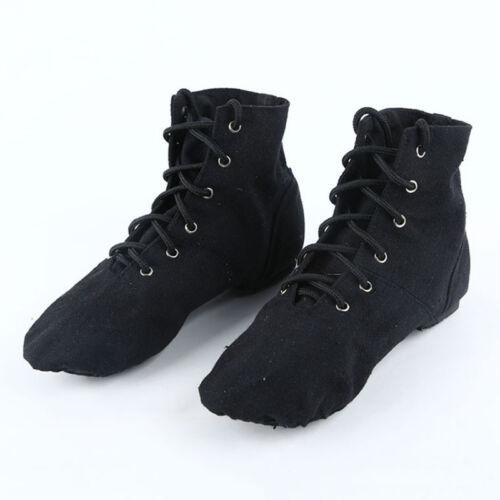 New Unisex Women Men Canvas Ballet Jazz Dance Gymnastic Boots Shoes Size 34-43