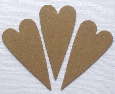 Valentine Bare {6}  PRIMITIVE HEART COMBO Chipboard Die Cuts Embellishments