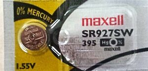 395-MAXELL-WATCH-BATTERIES-SR927SW-1-piece-New-packaging-Authorized-Seller