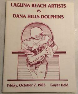 Details about Laguna Beach Artists Vs Dana Hills Dolphins High School  Football Oct 7, 1983