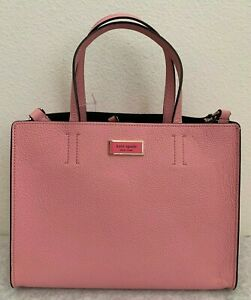 NWT-Kate-Spade-Sam-Medium-Satchel-Pebble-Leather-Bag-298-Rococo-Pink-PXRUA173