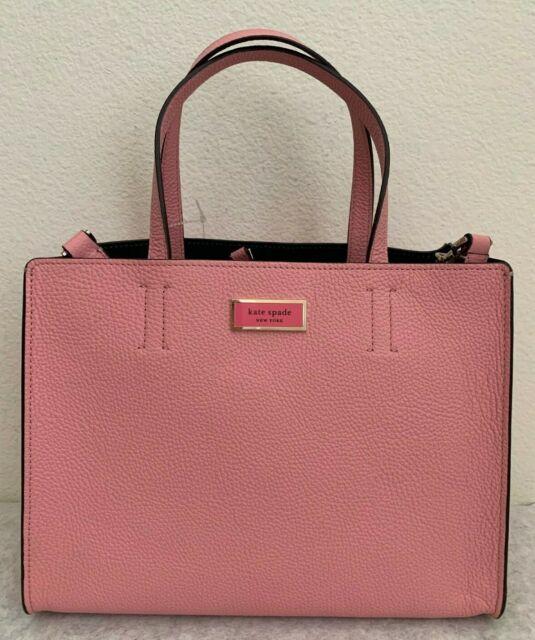 NWT Kate Spade Sam Medium Satchel Pebble Leather Bag $298 Rococo Pink PXRUA173