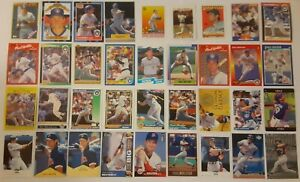 PAUL-MOLITOR-LOT-of-55-insert-base-cards-HOF-NM-1988-1999-Brewers-Twins-Blue-J
