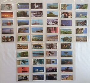 Discover-The-Coast-Brooke-Bond-1989-Full-Set-50-Vintage-Trading-Cards-A30