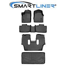 Smartliner Floor Mats 3 Rows And Cargo Liner Behind 3rd Row Black For Durango