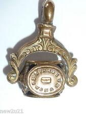 Victorian Intaglio Seal Fob multi spinning wheel 4 wax seals mottos