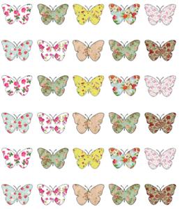30 X Color Multi Mariposas Cupcake Toppers Comestible Oblea Papel Hada Cake