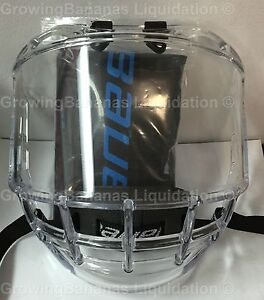 8b728a1db50 Bauer Concept 3 Full Shield Visor! JR Hockey Helmet Visor   Bag ...