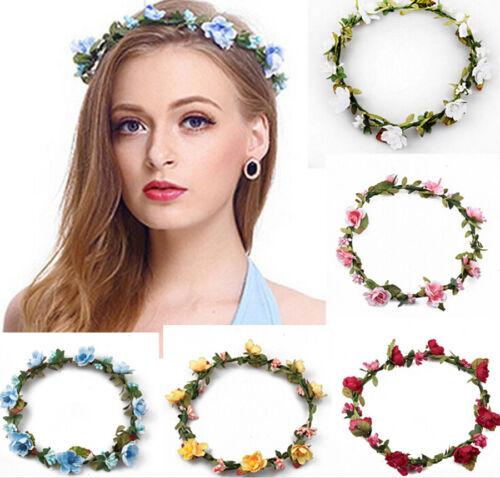 Boho Women/'s Flower Headband Crown Garland Wedding Bridal Hairband Hair Wreath