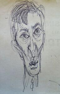 Détails Sur Croquis Crayon Studio Préparatoire Dessin Visage Homme Auteur G Pancaldi P28 5