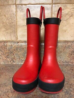 Toddler rubber Fire Fighter boots