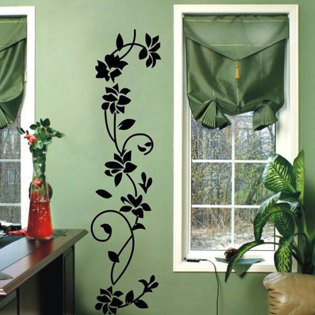 Hot Wall Stickers Flowers Vine Vinyl Mural Decal Removable Waterproof Wall Paper