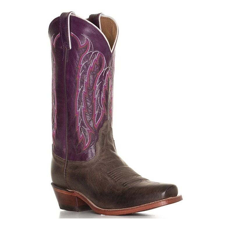 c1638cffc Nocona Ladies Chocolate America Boot LD4053 New Willow Purple ...