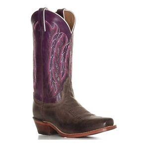 Nocona-Ladies-Chocolate-America-Purple-Willow-Boot-LD4053-New