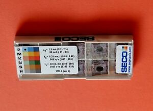 Seco 10 pcs CNMG 432-MF4,TM2501 Carbide Inserts  CNMG 120408-MF4,TM2501