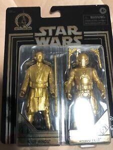 "Sealed 3.75/"" figure Mace /& Jango Fett Star Wars Gold Commemorative Edition"