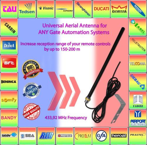 Antenne externe pour portail de distance jusqu/'à 150 m à distance automatisation