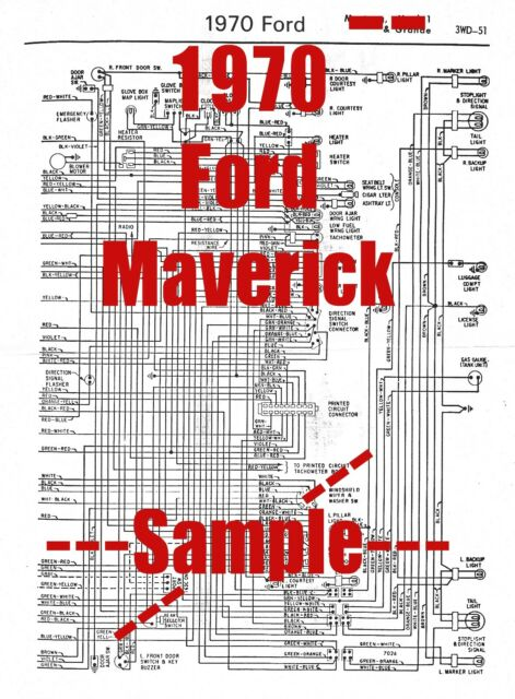 1970 Ford Maverick Full Car Wiring Diagram  High Quality