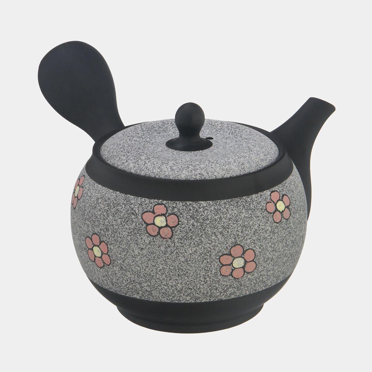 Tokoname Pottery SYUNZYU fleurs japonais Kyusu tea pot 340cc céramique maille filet