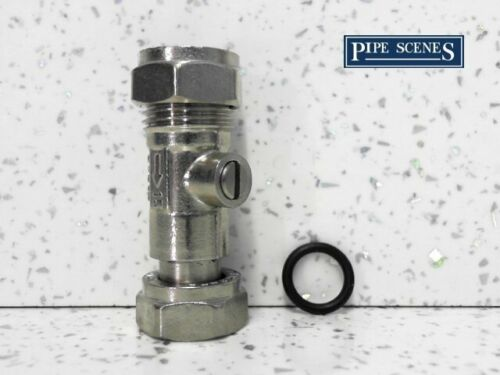 """15mm x 1//2/"""" Service Valve With Rubber Seal Straight for Toilet Taps Showers"""