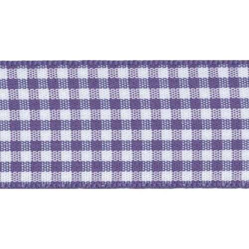 Berisfords Gingham Check ribbon 5 mm 10 mm 15 mm 25 mm Large /& Choix de Longueurs