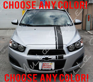 Chevy Sonic Custom >> Details About Custom Racing Stripes Vinyl Kit Body Accessory Decal Chevy Sonic 3 Piece Set