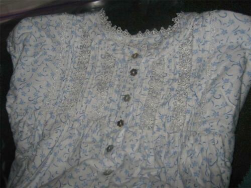 Eileen West Forget-Me-Not  100% Cotton Flannel Nig