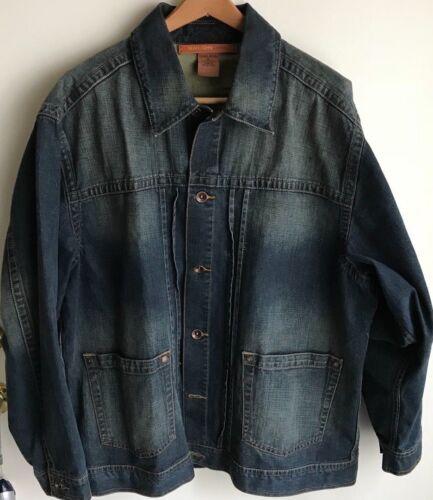 John Button Jean Denim Sean Front Jacket Blue Mens Xl FqvKTdw7